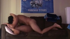 Sexy chubby girl moans so much while I cum all inside of her.