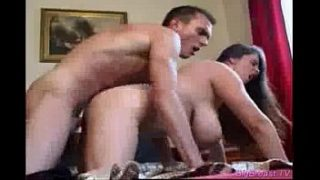Huge tits babe takes big cock