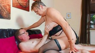 xxx omas sultry grandma gives intense blowjob in wild fuck