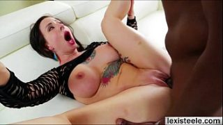 Thick chick Dollie gets cock slapped and rammed hard